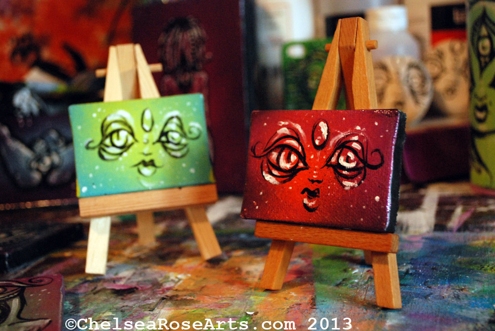 Mini acrylic paintings