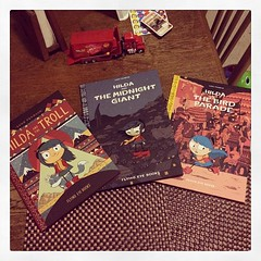 """Decided to get all of Luke Pearson's """"Hilda"""" books."""