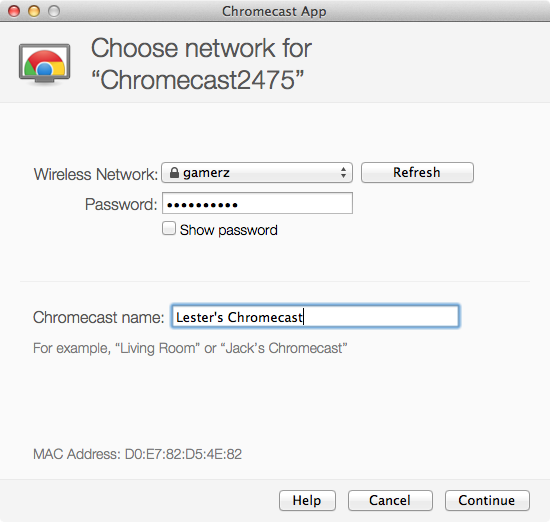 Google Chromecast - Setup Step 3