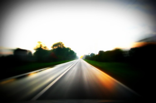 road autumn sunset car speed croatia mount endless