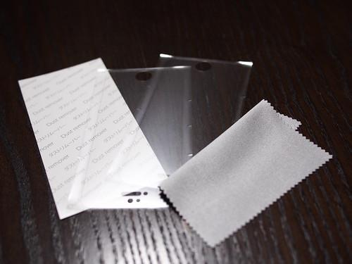 iPhone5sアンチグレアフィルム同梱品