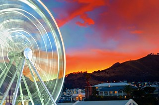 Spinning & Orange Sky