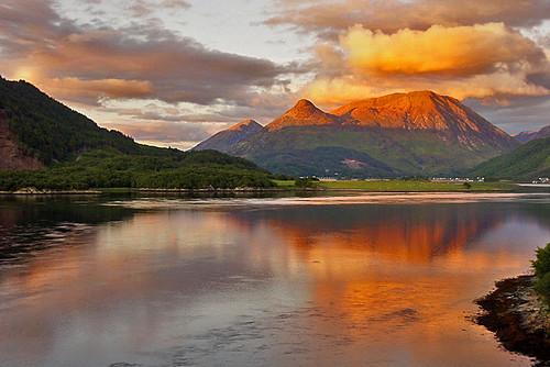 sunset mountain scotland day sundown cloudy highland loch lochleven simplysuperb blinkagain blinksuperstars papofcoe