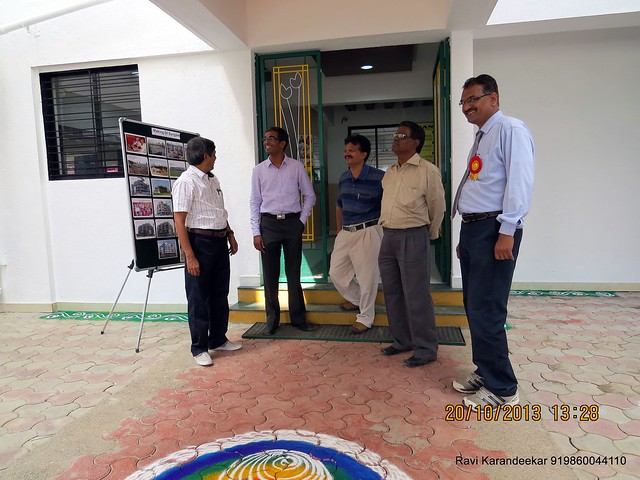 At the door of entrance lobby - Handing Over Ceremony of Sanjeevani Developers' Sangam at Sus on Sunday 20th October 2013