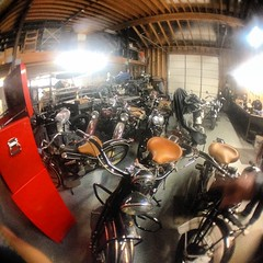 Visiting some family in Riverside. Some of Mike's #indian bikes!