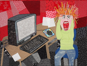 Computer Angst~Quilt by Angela-Kenley