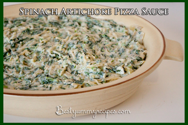 Spinach Artichoke Pizza Sauce