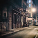 New York City - Night- Alley and Fire Escapes by Vivienne Gucwa