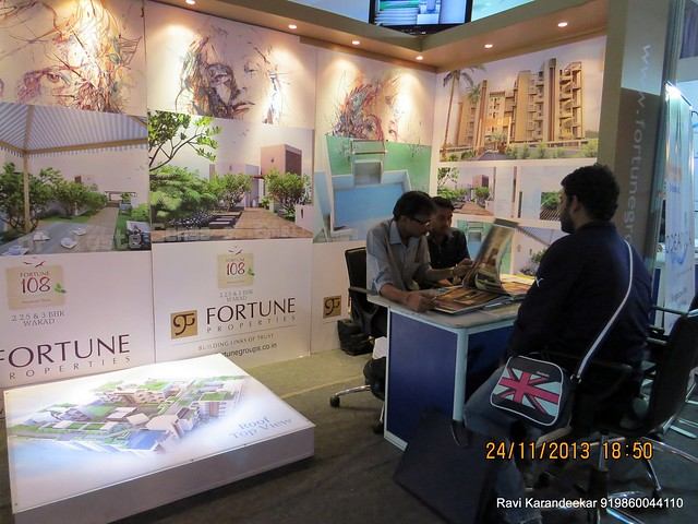www.fortunegroups.co.in - Fortune 108 2 BHK 2.5 BHK 3 BHK Flats near Akshara International School Wakad - Pune Property Exhibition, Times Property Expo 'Investment Festival 2013', 23rd & 24th November 2013