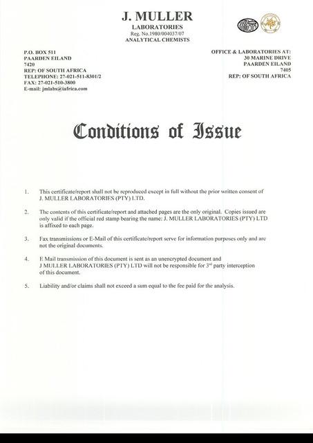 國際歐盟橄欖油檢驗報告值2012-3