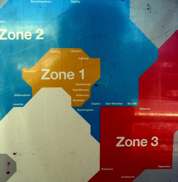 Hopeless public transport zone map