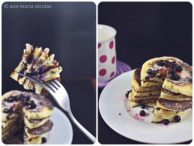 pancakes cu afine