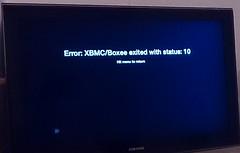 XBMC error
