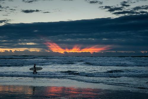 morning sea sky sunrise surfer minamiboso