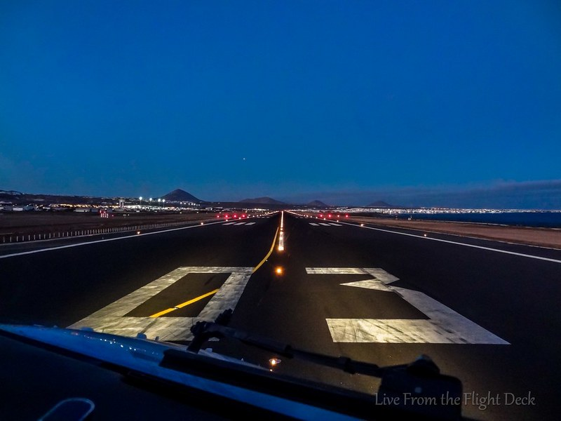 Cleared for take-off - Lanzarote airport
