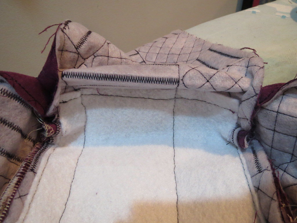 Fusible Fleece Folds Up Over Corner