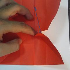 วิธีพับกระดาษพับดอกกุหลาบ 027
