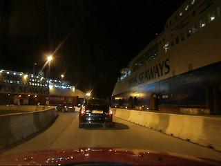 Dans le terminal ferry de Dunkerque