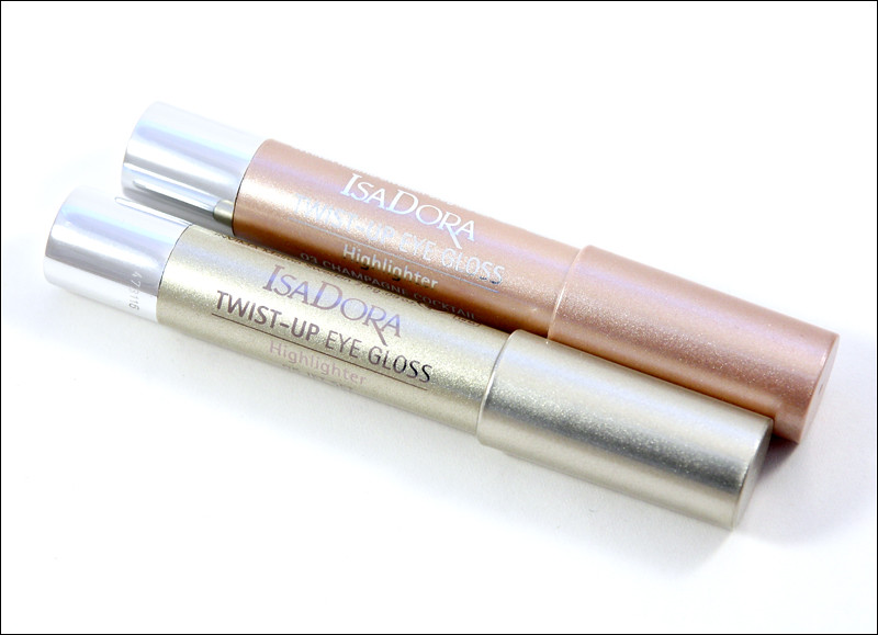 IsaDora 03 champagne coctail & 05 jet set twist-up eye gloss