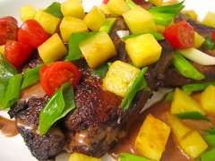 "Sauteed Veal Liver ""Hawaii""  @ Home by Hans susser"