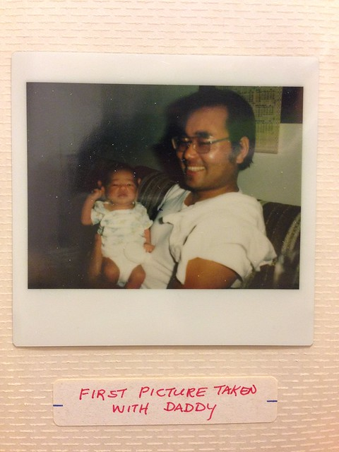 Dad's First Picture with Me