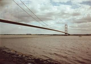 The Humber Bridge half frame