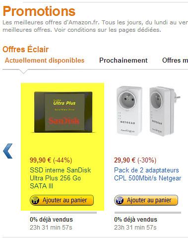 Offre Eclair Amazon