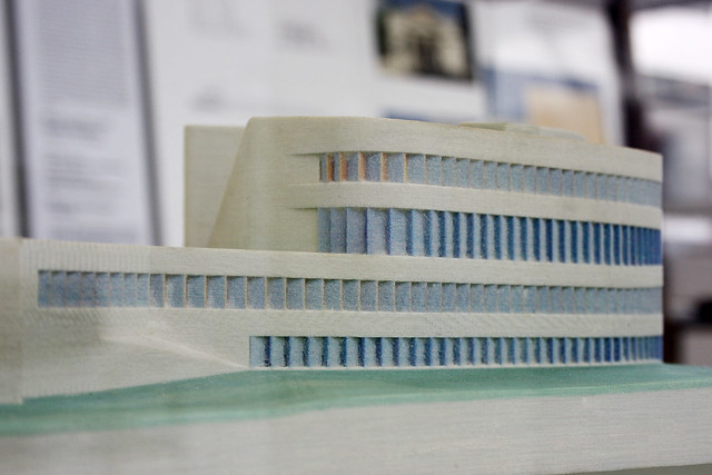 Model of Centre for virtual engineering ZVE by UNStudio Ben van Berkel, Caroline Bos
