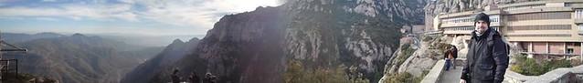 Javi en su llegada a Montserrat