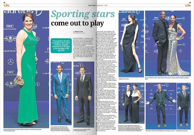 Laureus Sports - Fashion Spread- 1st april 2014