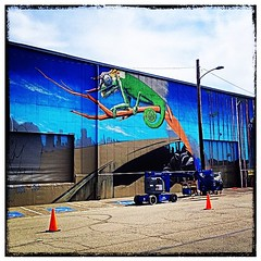 Part two of the new mural being painted across the street from my new place.