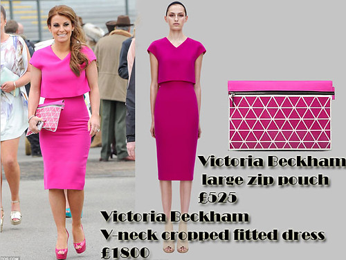 Pretty in Pink: Victoria Beckham large zip pouch