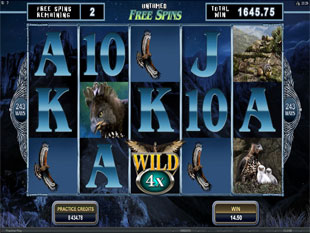 Untamed Crowned Eagle Free Spins Feature
