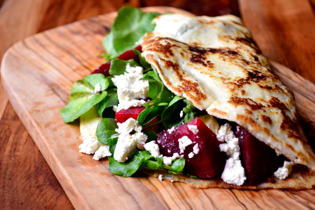 Recipe for Beetroot and Feta Pancakes