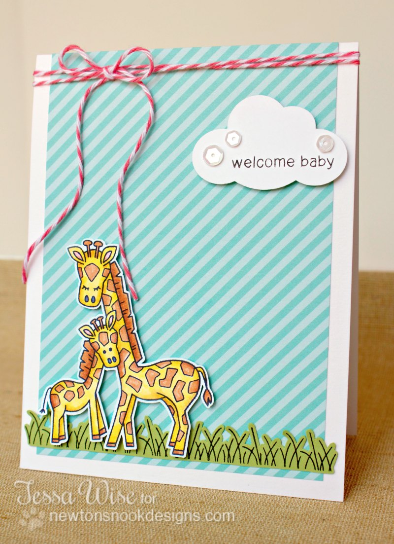 Newton's Nook Designs Welcome Baby Card 1- Tessa Wise