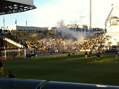 Still 15 mins until kickoff and Nordecke is already in full voice! #Crew96 ⚽️