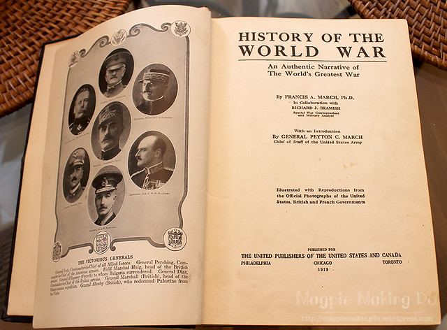 History of the World War inside