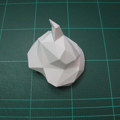 วิธีทำโมเดลกระดาษคุกกี้รสคุกกี้แอนด์ครีม  (Cookie Run Cream Cookie Papercraft Model) 005