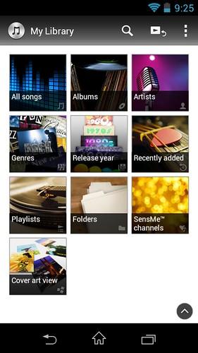 Music app ของ Sony Walkman NWZ-ZX1