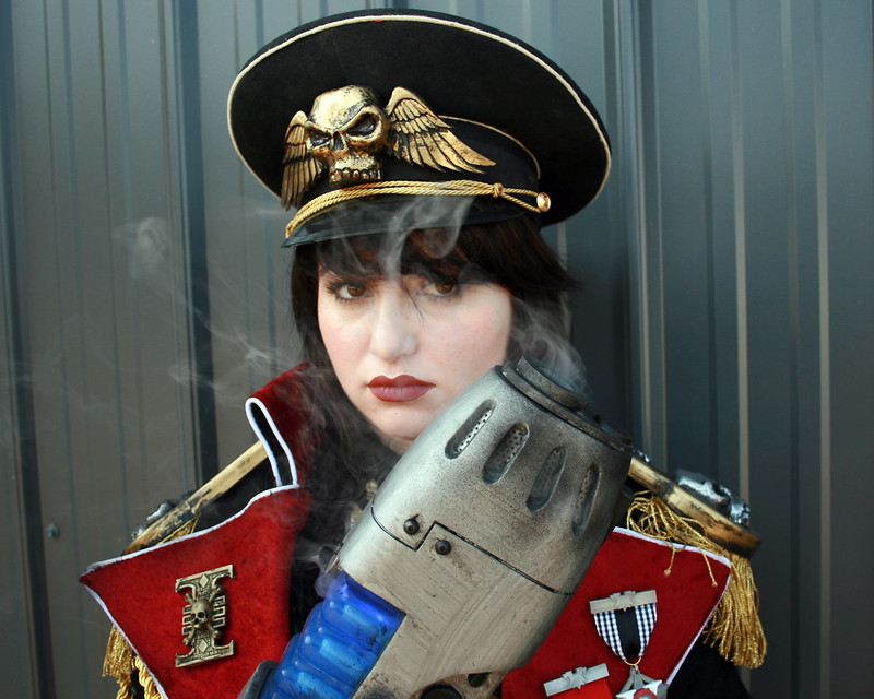 Commissar Smoking Closeup