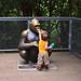 Gorilla statue nose