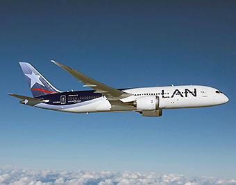 LAN B787-8 CC-BBA volando (LATAM Airlines)