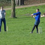Student cricket in Avenham Park