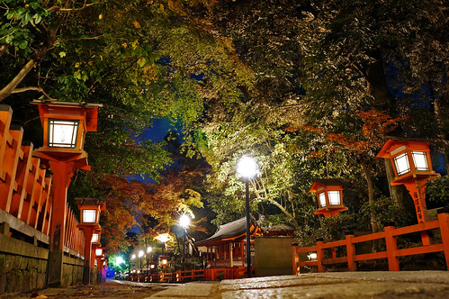 night street at Yasaka Shrine