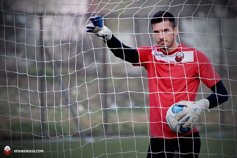 Marko Jovanovski is the new #1 keeper at Pelister; photo: KF Shkendija