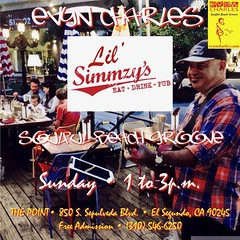 What an honor to be playing for the third day in a row at Lil' Simmzy's! Located at the Point shopping center, it's perfect for families. Join me for acoustic Soulful Beach Groove music, awesome drinks and food on the best patio in the South Bay :)