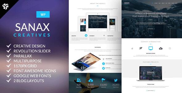 Sanax WordPress Theme free download