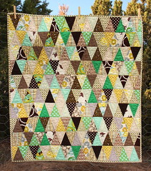 triangle quilt done!