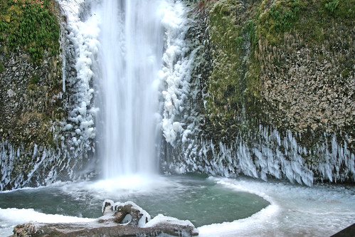 Winter Columbia Gorge Falls