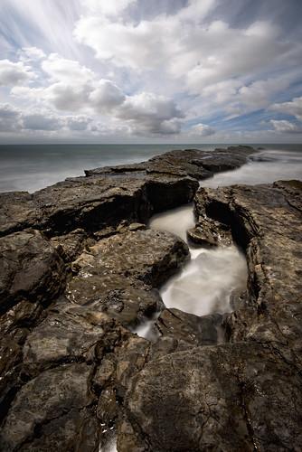 ocean sea sky seascape beach water rock clouds daylight pacific waters reef davenport tidepool anonuevo sharky